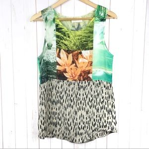 Zara Horse Waterfall Orchid Tank Top Size S